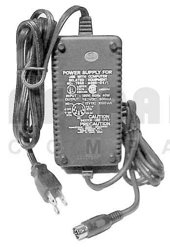 T66R  DC Power Supply for Computer Related Equipment,  w/5 PIN DIN Connector, MP INTER.