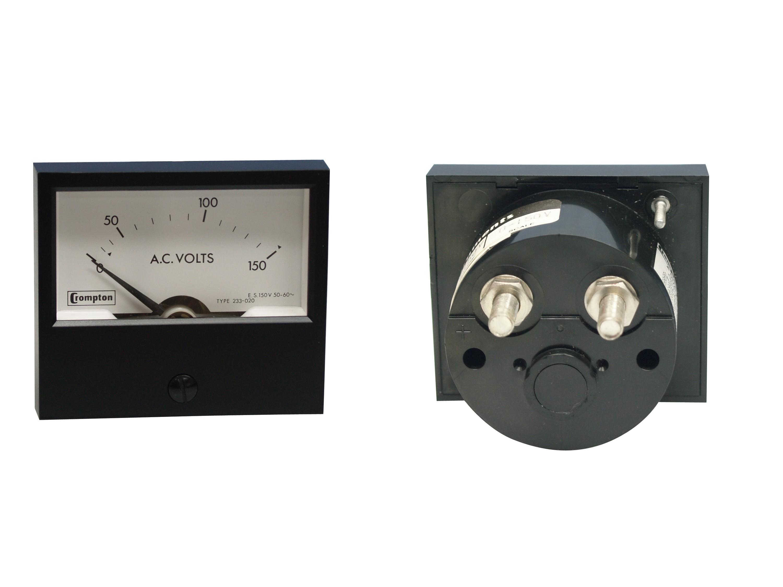 233-02 Meter, panel, 0-150vac,  Crompton Instruments (Hawker Siddeley)