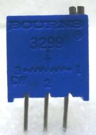 "3299W-10K  3/8"" Square Trimpot Trimming Potentiometer, 10000 ohm, 0.5 watt, Bourns"