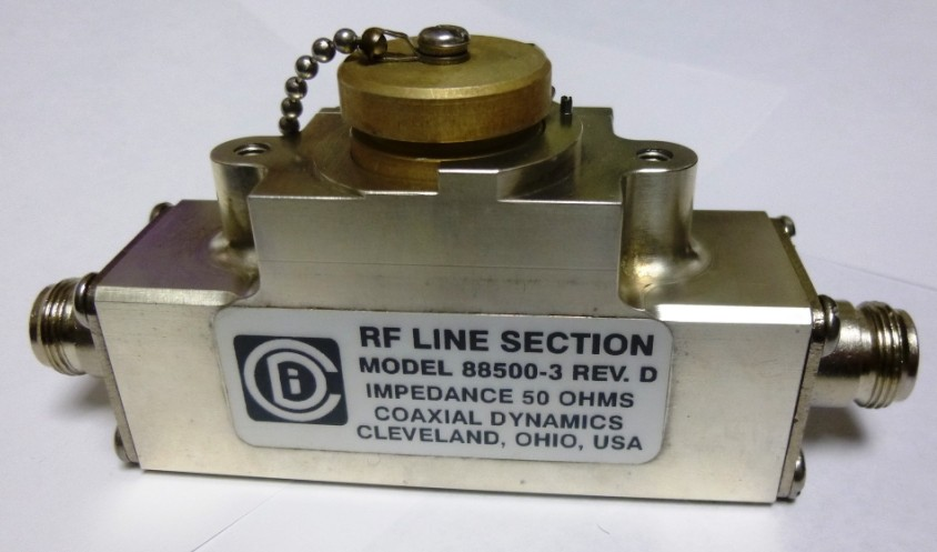 88500-3  Coaxial Dynamics Line Section w/Type-N Female connectors(Clean Used)