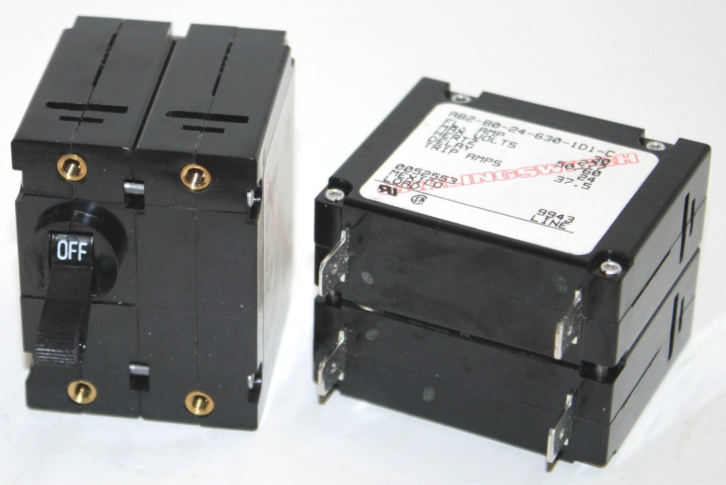 AB2-B0-24-630-1D1 Circuit Breaker, Dual AC, 30a, 277v, Carlingswitch
