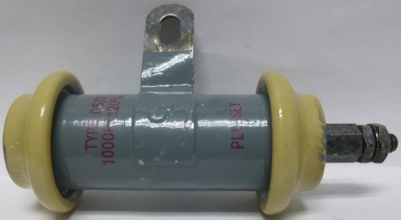 Ft1000 10 06 U Feed Thru Capacitor 1000pf 10kv Plessey