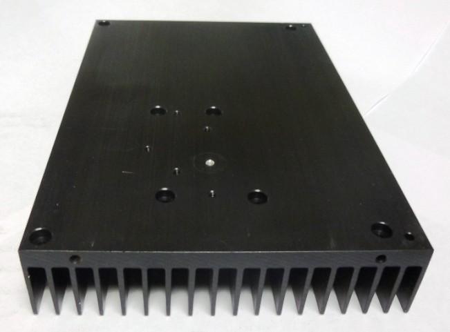 "HSBLK7 Heatsink, Black Anodized Aluminum, 5.5"" x 7.75"""