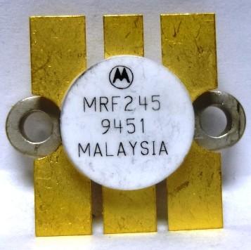 MRF245MP Transistor, Matched Pair, NPN silicon RF Power Transistor, 80 Watt, 12 volt, 175 MHz,  Motorola
