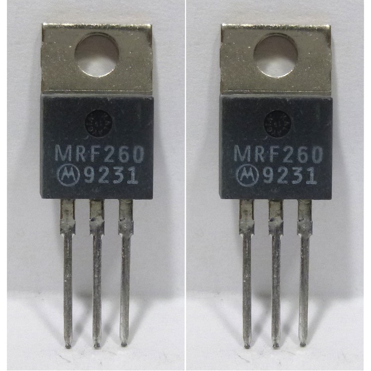 MRF260MP NPN Silicon RF Power Transister, Matched Pair, 12.5 V, 175 MHz, 5.0 W, Motorola