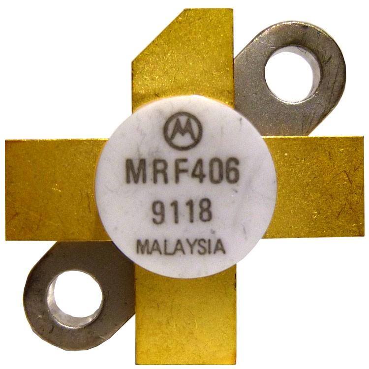MRF406 NPN Silicon RF Power Transistor, 20 W (PEP), 30 MHz, 12.5 V, Motorola