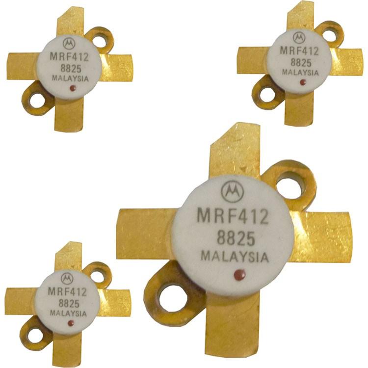 MRF412MQ NPN Silicon RF Power Transistor, Matched Quad, 70 W (PEP or CW), 30 MHz, 13.6 V, Motorola