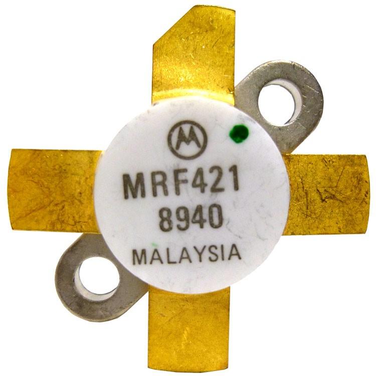 MRF421-MOT MRF421 NPN Silicon Power Transistor, 100 W (PEP), 30 MHz, 12 V, Motorola