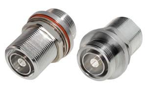 P2RFD1654-4 In Series Adapter, 7/16 DIN Bulkhead Female to Female, RFI