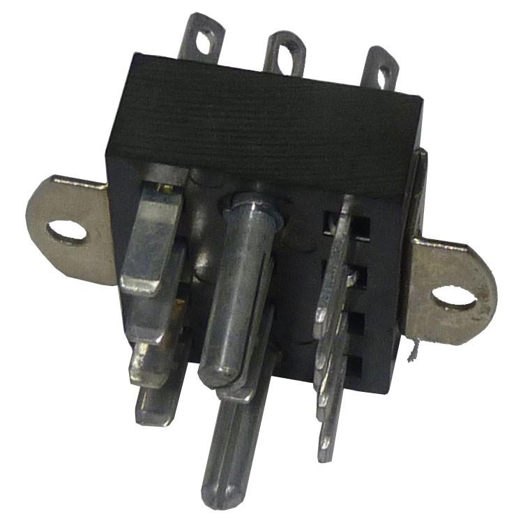 P312AB-S  -  12 Pin Cinch Connector Plug w/Angle Brackets (2 Larger Pins) (Jones)