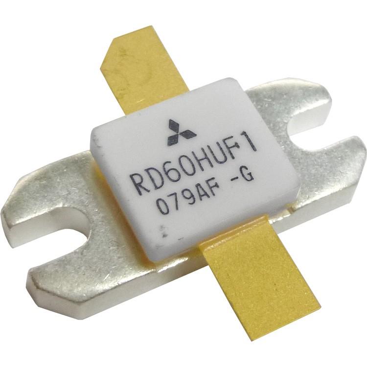 RD60HUF1  Transistor, 60 watt, 520 MHz, 12.5v, Mitsubishi