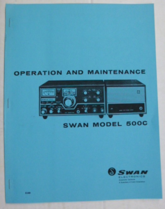 sms500c swan operation and maintenance manual 500c rh rfparts com Swan 350C Swan 500