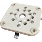 122-275-204  5 Pin Tube Socket, NOS Heavy duty Military grade; steatite insulated wafer type, Johnson