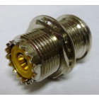 83-907 UHF Female Rear Mount Bulkhead Chassis Connector,  (SO239) Solder Cup, W/Extended Threads (0.90 inches), APL/RF