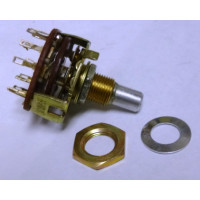 10YX025  Rotary Switch, 2 pole, 5 position