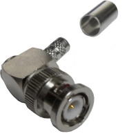 112601 BNC Male Crimp Connector, Right Angle, Cable Group X, Amphenol
