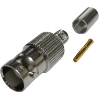 112605  BNC Female Crimp Connector, Straight, Cable Group X, Amphenol