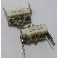 18-12 Trimmer, compression mica, pc mount,12-65 pf