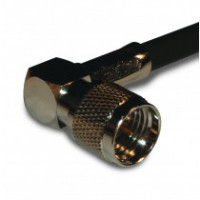 182323  Mini-UHF Male Crimp Connector, Right Angle, Cable Group C, Amphenol