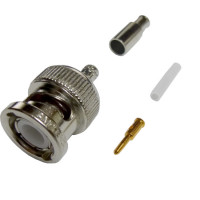 31-315-RFX BNC Male Crimp Connector, Cable Group B, Amphenol
