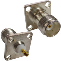 4060-0005 - TNC Female 4 Hole Chassis Connector, SOL