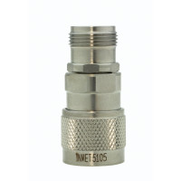 5105 Adapter, type-n(male)--(female), 0-18 ghz, passivated s.Steel, AERO