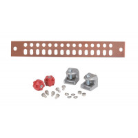 UGBKIT-0214 Copper Ground Buss Bar, 1/4 in x 2 in x 14 in, ANDREW