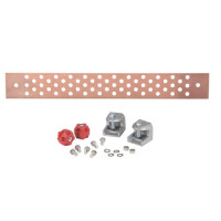 "UGBKIT Ground buss bar, 58 hole, 1/4"" x 2.5""x 19.5"", Andrews"