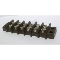 BTS6-15  Double Row Barrier Terminal Strip, 6 position, 15 amp