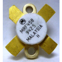 MRF458 Transistor, NPN Silicon RF Power, 80 Watt, 12.5 volt, 30 MHz, (Low Beta Version MRF454), Motorola