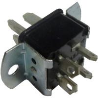 P304AB  4 Pin Cinch Connector Plug w/Angle Brackets  (Jones)