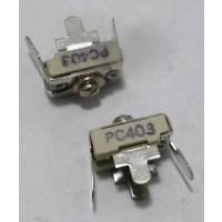 403-PC Trimmer, compression mica, 8-45 pf. pc mount
