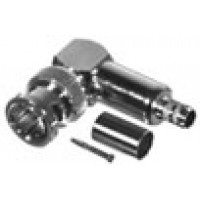 0-RFB1710-Q BNC Male Crimp Connector, Right Angle, 75 Ohm, Cable Group Q, RFI