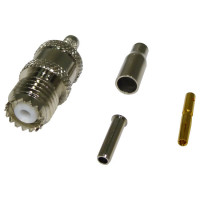 RFU601-3 Connector, mini-uhf(f) crimp, Cable Group: B, RF Industries
