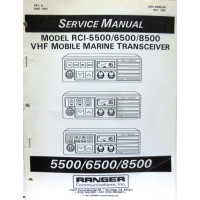 SMRCI55  Service Manual for Ranger RCI5500 / 6500 / 8500 VHF Mobile Marine Radios