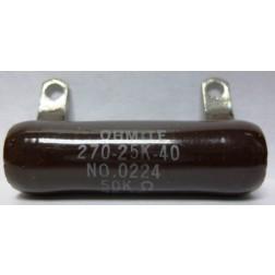 0224-50K Resistor, 50k ohms 25 watts. Ohmite