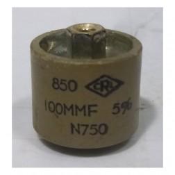 580100-5P Capacitor, Doorknob, 100pf 5kv, 10% (Clean Used)