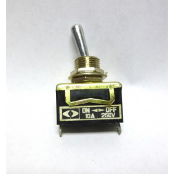 10TE006  Toggle Switch, SPST, 10a 250v, ON - OFF