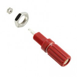 111-0102-001  Red Binding Post Terminals, EF Johnson