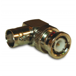 BNC-3306 In-Series Adapter, BNC Male to Female Right Angle, PPEC