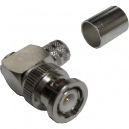 112596  BNC Male Crimp Connector, Right Angle, Cable Group I, Amphenol