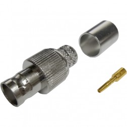 112603  BNC Female Crimp Connector, Straight, Cable Group I,  Amphenol