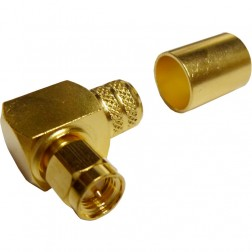 132299  SMA Male Crimp Connector, Right Angle/Square Body, Cable Group I, Amphenol