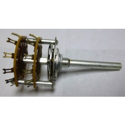 1413 Band switch, 2 pol 11 pos, Non-Shorting Phenolic, Centralab