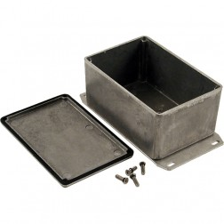 BOX1590WTFLBK  Diecast Box Enclosure w/Flange, Watertight, Black, Hammond