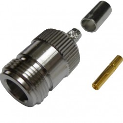172148  Type-N Female Crimp Connector, Cable Group X, Amphenol