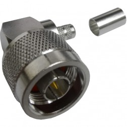 172219  Type-N Male Crimp Connector. Right Angle, Cable Group X, Amphenol