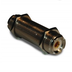182319  In Series Adapter, UHF Female to Female Barrel, 2 inch Threaded, Amphenol
