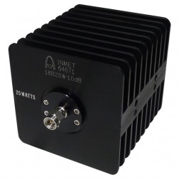 18B25W-20 Attenuator, 25 Watt 20 dB, SMA Male/SMA Female, API/Inmet