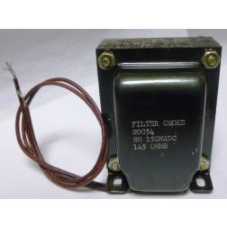 20C54 DC Filter Choke, 8 Henry, 150ma